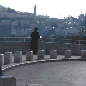 Orthdox Jew looking out from old city